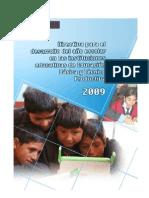 Directiva Educación Básica Regular y Técnico Productiva 2009