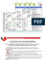 May 2012 Group Fitness Schedule