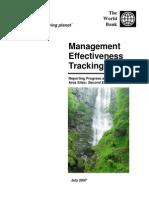 Biodiversity & Management _effectiveness Tracking Tool WWF2007