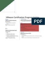 Vmware Certification Program Update