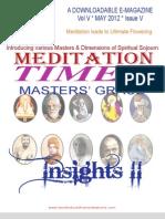 MEDITATION TIMES - MAY 2012