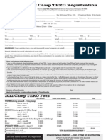 2012 Camp TEKO Registration Form