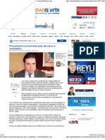 29-04-12 Presentarán economistas plan del ramo a candidatos
