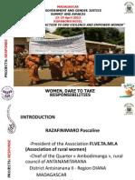 Pascaline Razafinimaro, Madagascar, Response - Summit 2012