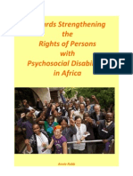 Strengthening the Rights of People With Psycho Social Disabilities in Africa