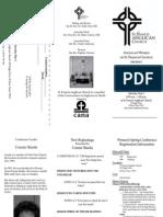 Women's Spring Conference - registration brochure