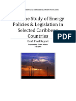 Baseline Study of Energy Policies & Legislation in Selected Caribbean Countries, July 2009