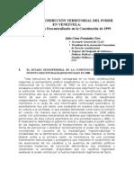 La Nueva Distribuci_n Territorial Del Poder 1999