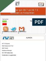 Yazılımcılar için IIS 7 ve IIS 7.5 Yenilikleri ve Kolaylıkları