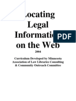 Locating Legal Information on the Web