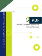 Self Audit Checklist Nov06