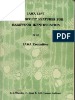 IAWA List of Microscopc Features for Hardwood Identification - OCR