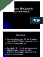 Resumo Simulado de Química (02