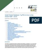 Oracle 11g Rac on Linux Using Oracle ASM