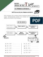 LOS NÚMEROS ENTEROS multiplicación