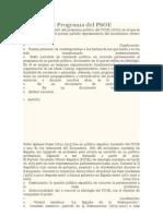 Análisis del Programa del PSOE