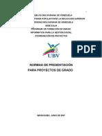 Normativa Para La Entrega de Proyectos Junio 2007