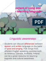 The Important of Song and Poetry in Teaching