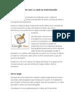 Herramientas web para la labor de investigación.