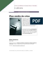 Plan média de crise