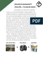 Classroom Description Project