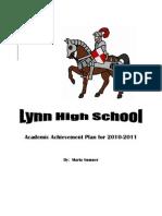 Academic Achievement Plan for 2010