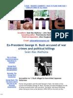 Ex-President George Bush Accused of War Crimes