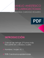 Manejo Anestesico Para Laringectomia