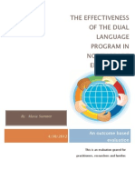 The Effectiveness of the Dual Language Program in North Grade Elementary