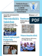Primer Boletin Informativo de la Fundacion Renato Abril 2012.