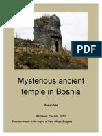 Petko Nikolic Vidusa - Mysterious ancient temple in the Bosnia