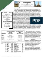 St. Joseph's April 22, 2012 Bulletin