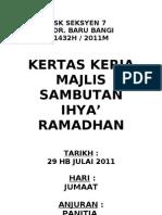 Kertas Kerja Ihya' Ramadhan 2011