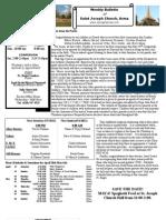 St. Joseph's April 29, 2012 Bulletin