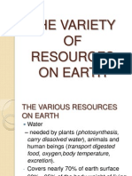 58783176 the Variety of Resources on Earth
