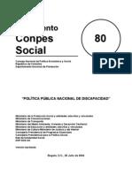 Documento Conpes 80