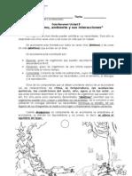 guía resumen Organismo, ambiente y sus interacciones