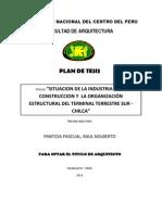 Plan de Tesis de Pantoja