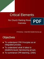 Critical Elements Spheres