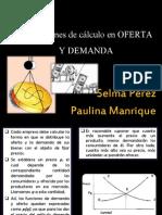 Aplicaciones de cálculo en OFERTA Y DEMANDA