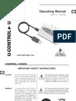 Behringer U Control UCA200 Manual