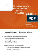 Re - Aprendizaje Motor y Neuroplasticidad