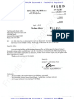 2012-04-05 Begley Letter to Miss Sup Ct Re Order Granting Motion for Admission Pro Hac Vice