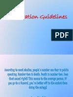 Presentation Tips