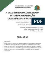 Economia Mineral Brasileira - Vale