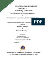 Training Report Sourabh