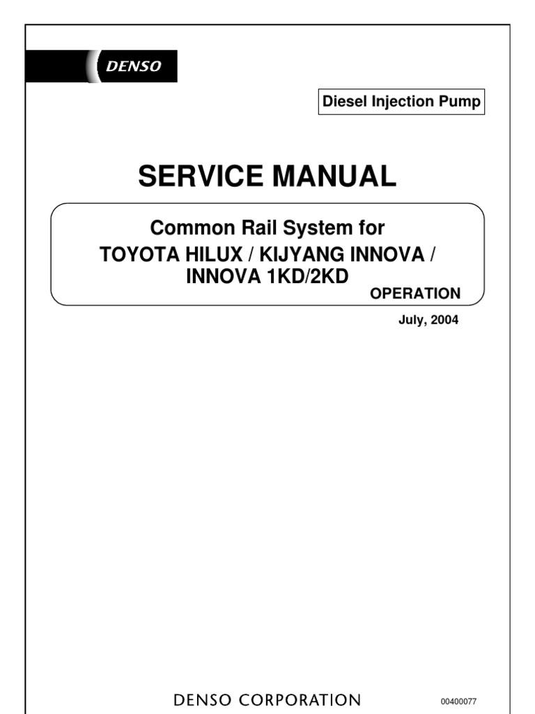 denso toyota hilux common rail fuel injection throttle rh scribd com toyota 1kd-ftv workshop manual toyota 1kd engine repair manual
