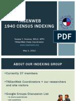 TNGenWeb 1940 Census Indexing Update - April 2012