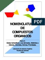 Nomenclatura de Compuestos Orgánicos - Parte II