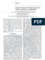 Optimal Location of Multi-types of FACTS Devices using Genetic Algorithm